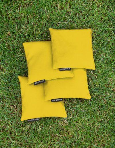 Vier Cornhole-Wurfsäckchen in gelb spass-garant.de